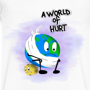 A World of Hurt - Men's V-Neck T-Shirt by Canvas
