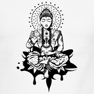 Buddha in the lotus position T-Shirts - Men's Ringer T-Shirt