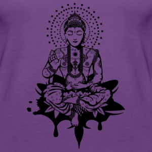 Buddha in the lotus position Tanks - Women's Premium Tank Top