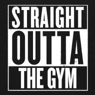 Design ~ Straight Outta The Gym   Mens Jumper