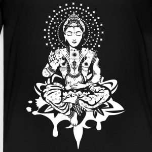Buddha in the lotus position - White- Baby & Toddler Shirts - Toddler Premium T-Shirt