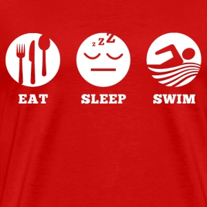 Eat Sleep Swim T-Shirts - Men's Premium T-Shirt