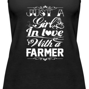 In love with a farmer - Women's Premium Tank Top
