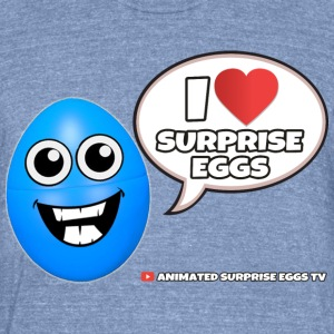 I ♥ Surprise Eggs - Unisex Tri-Blend T-Shirt by American Apparel