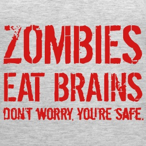 ZOMBIE EAT BRAINS Tanks - Women's Premium Tank Top