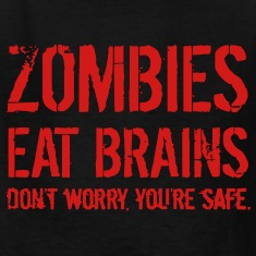 ZOMBIE EAT BRAINS T-shirts Enfant