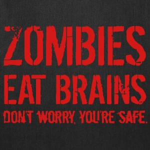 ZOMBIE EAT BRAINS Bags & backpacks - Tote Bag