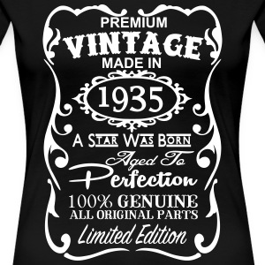 80th Birthday Gift Ideas for Men and Women Unique Women's T-Shirts - Women's Premium T-Shirt