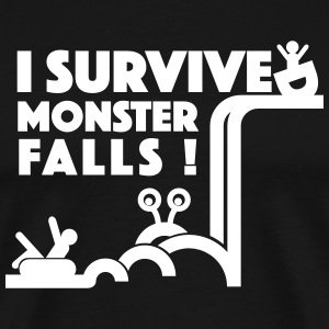 I Survived Monster Falls - Men's Premium T-Shirt
