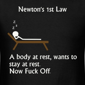 Funny physics joke t shirt - Men's T-Shirt