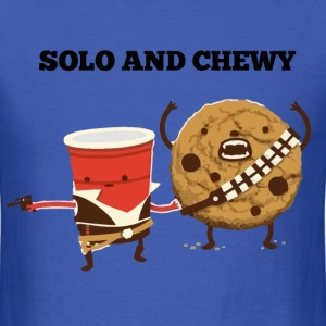 Funny Star Wars Han Solo and Chewbacca t shirt - Men's T-Shirt