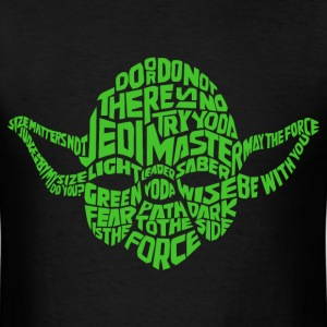 Cool Yoda typography t shirt - Men's T-Shirt