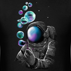 Cool space astronaut and planets t shirt - Men's T-Shirt
