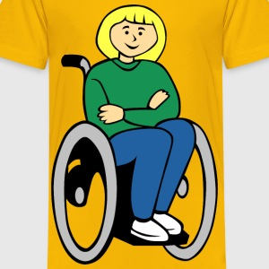 Girl in wheelchair - Kids' Premium T-Shirt