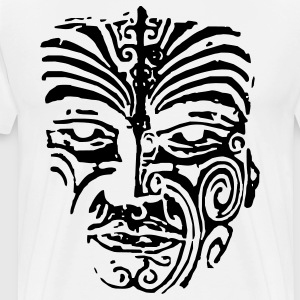 Maori Face Tatoo - Men's Premium T-Shirt