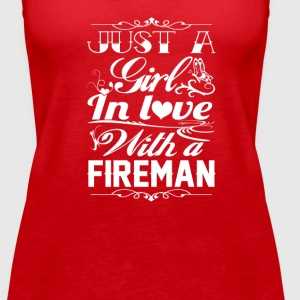 In love with a Fireman - Women's Premium Tank Top
