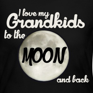 I love my grandkids to the moon and back - Women's Long Sleeve Jersey T-Shirt