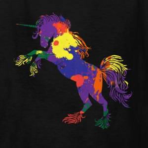 Rainbow Unicorn 80s  - Kids' T-Shirt