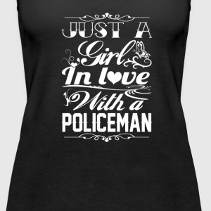 In love with a Policeman - Women's Premium Tank Top