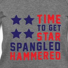 Star Spangled Hammered - American Flag - U.S.A  Long Sleeve Shirts