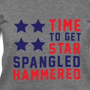 Star Spangled Hammered - American Flag - U.S.A  Long Sleeve Shirts - Women's Wideneck Sweatshirt