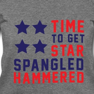 Star Spangled Hammered - Women's Wideneck Sweatshi - Women's Wideneck Sweatshirt