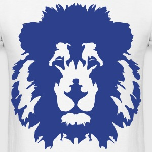 Lion Face T-Shirt (Blue) - Men's T-Shirt