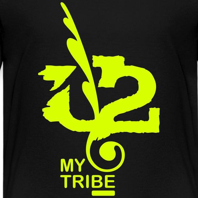 U+2=MY TRIBE - back+front neon/glow - xs/l kids - multi colors