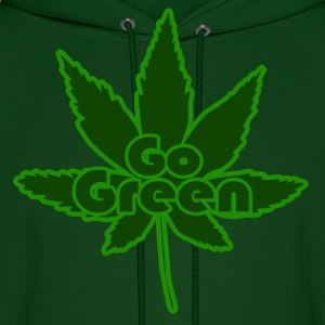 GO GREEN for marijuana 420 - Men's Hoodie