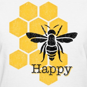 Honeycomb Bee Happy Women's T-Shirts - Women's T-Shirt