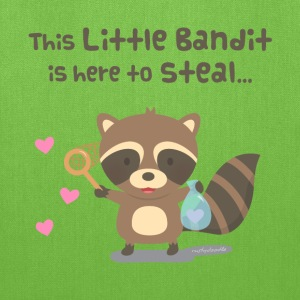 Cute Heart Bandit Raccoon Bags & backpacks - Tote Bag
