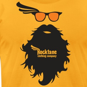 Men's Bright n' Beardy (Gold) by Rocktane Clothing - Men's T-Shirt by American Apparel