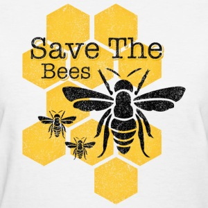 Honeycomb Save The Bees Women's T-Shirts - Women's T-Shirt