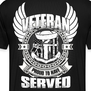 Navy Veteran day shirts - Veteran,Crest,Country - Men's Premium T-Shirt