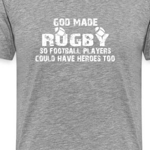 Rugby - So Football Players Have Heroes - Men's Premium T-Shirt