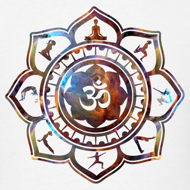 Ethos Wear Design And Apparel Om Lotus Flower Yoga Poses Tshirt