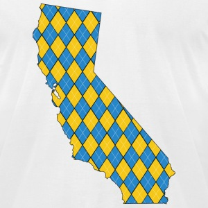 California UCLA Plaid.png T-Shirts - Men's T-Shirt by American Apparel