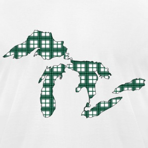 Great Lakes Green Plaid.png T-Shirts - Men's T-Shirt by American Apparel