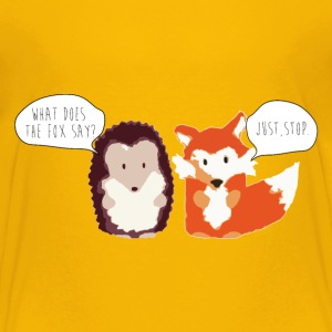 Toddler T-shirt what does the fox say silly - Toddler Premium T-Shirt