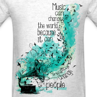 Design ~ Music can change the world Men's T-Shirt