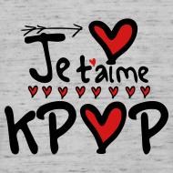 Design ~ Je t'aime KPOP Men's V-Neck T-Shirt by Canvas