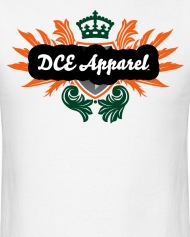 dce apparel t shirt the crown dce apparel mens t shirt rh shop spreadshirt com Clothing and Apparel Logos F Clothing and Apparel Logos That Are Green