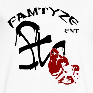 famtyze logo v-neck - Men's V-Neck T-Shirt by Canvas