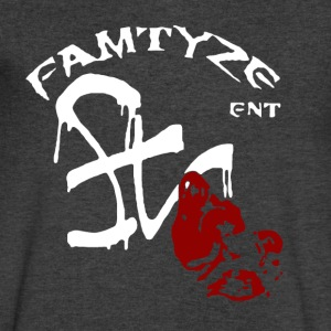 famtyze ent logo vneck - Men's V-Neck T-Shirt by Canvas