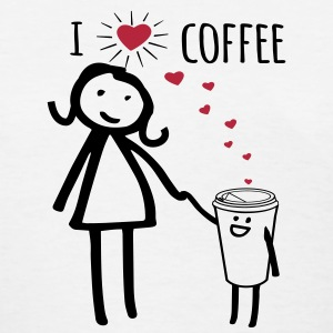 Cute I Love Coffee Women's T-Shirts - Women's T-Shirt