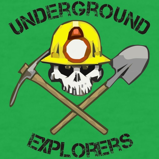 Underground Explorers Bright Green Women's Logo Tee