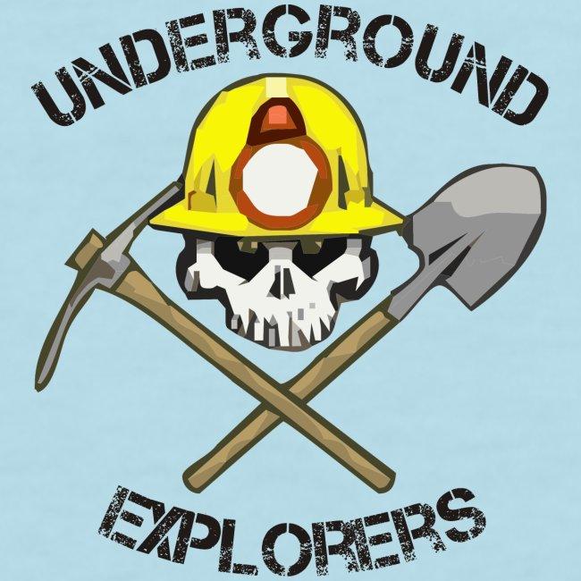 Underground Explorers Sky Blue Woman's Logo Tee