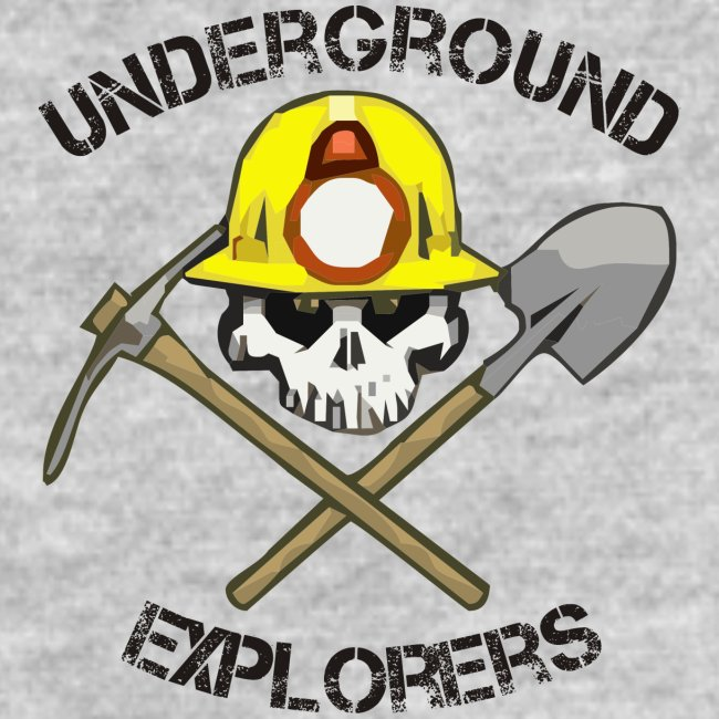 Underground Explorers Heather Grey Women's Logo Tee