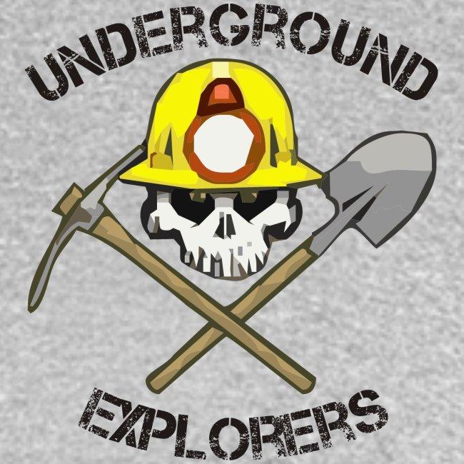 Underground Explorers Heather Grey Women's Logo Tee