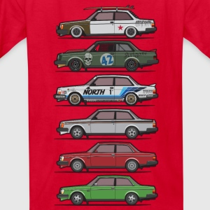 Stack of Volvo 240 Series 242 Brick Coupes Kids' Shirts - Kids' T-Shirt
